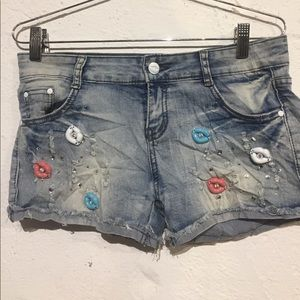 Pants - 2 items for $20 (bundle) Rhinestones lips shorts